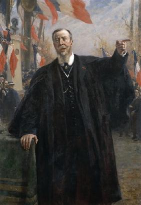 Paul Déroulède (1846-1914) Making a Speech at Bougival, January 1913