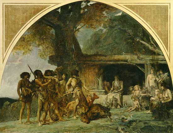 Paleolithic Stone Age http://www.art-prints-on-demand.com/a/cormon-fernand/the-stone-age-returning-f.html