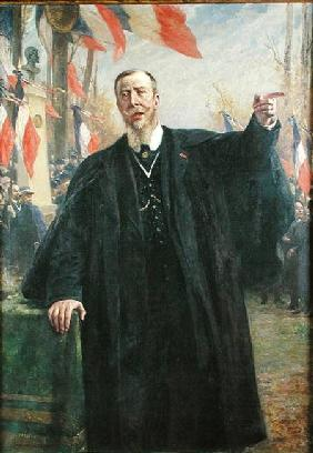 Paul Deroulede (1846-1914) Making a Speech at Bougival