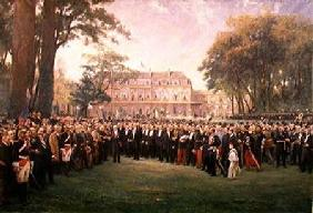 Reception of the Mayors of France at the Elysee Palace, 22nd September 1900