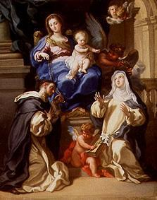 Madonna with child, the hll. Dominikus and Katharina of sienna as well as angels