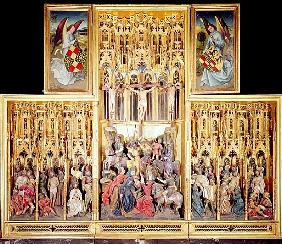 Central section of the Ambierle Altarpiece, 1460-66 (gilded & painted walnut wood)