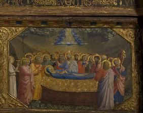 The Death of the Virgin (The Annunciation retable with 5 Predella scenes)