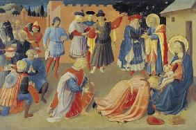 Adoration of the Magi, predella panel from the Linaiuoli Triptych