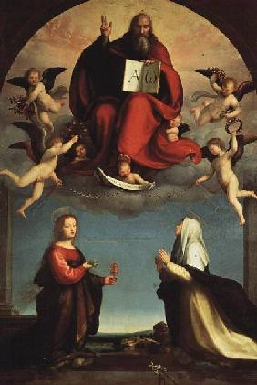 God appearing to St. Mary Magdalen and St. Catherine of Siena