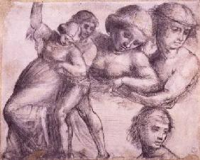 Study of a man and a woman for the Madonna della Misericordia in Villa Guinigi, Lucca