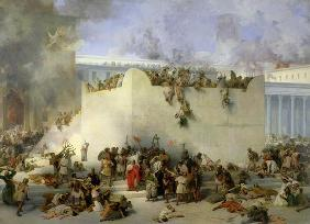 Destruction of the Temple of Jerusalem (oil on canvas)