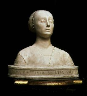 Battista Sforza, Duchess of Urbino, bust