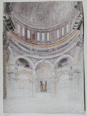 Early study for the proposed decoration of St. Paul's Cathedral