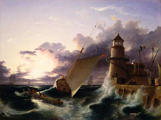 Shipwreck Oil On Canvas Francis Danby As Art Print Or