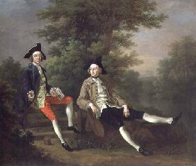 Portrait of David Garrick (1717-79) (left) and William Windham of Felbrigg (1717-61) (right)