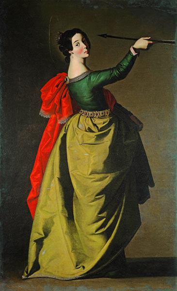 F.Zurbarán / St.Ursula / Paint./ C17th