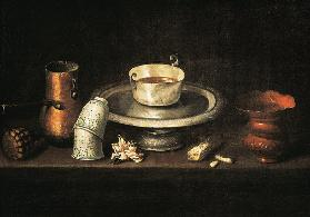 Still Life with a Bowl of Chocolate, or Breakfast with Chocolate