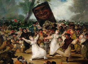 The Burial of the Sardine (Corpus Christi Festival on Ash Wednesday) c.1812-19  (detail of 530)