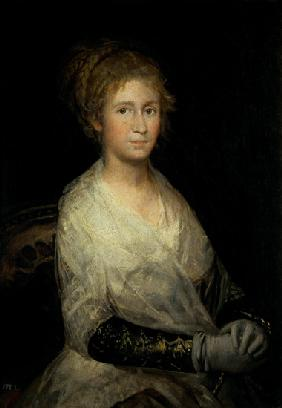 Portrait thought to be Josepha Bayeu (d.1812) the Artist's Wife