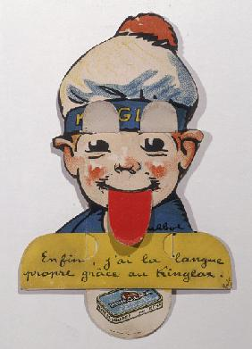 Advertisement for Kinglax laxative Chocolate, early twentieth century