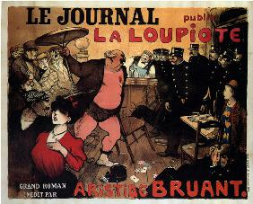 Le Journal publie La Loupiote, Grand roman par Aristide Bruant