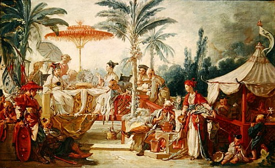 Feast of the Chinese Emperor, study for - François Boucher ...