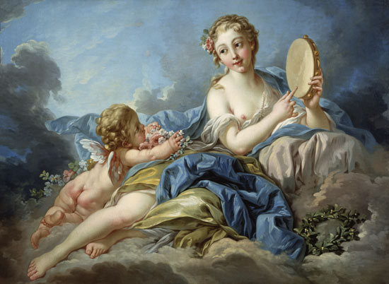 Terpsichore, the Muse of the choir lyric - François Boucher
