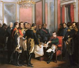 The Abdication of Napoleon at Fontainebleau on 11 April 1814