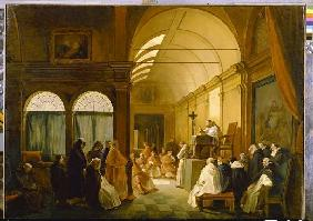 Meeting of the Kapitulare of a cloister.