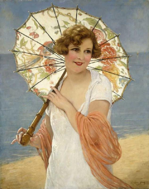Oil painting Francois Martin-Kavel - A summer rose young