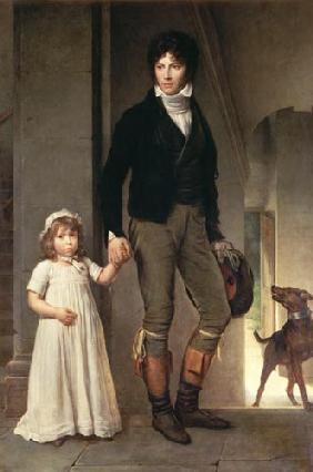 Jean-Baptiste Isabey with his daughter