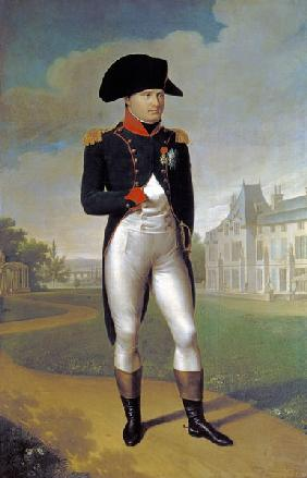 Napoleon I (1769-1821) in Front of the Chateau de Malmaison