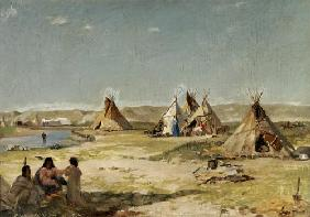 Camp of the Indians in Wyoming