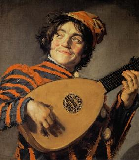 Lute playing fool
