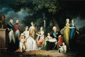 Paul I (1754-1801), Maria Feodorovna (1759-1828) and their Children