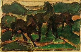 Horses on the Meadow I
