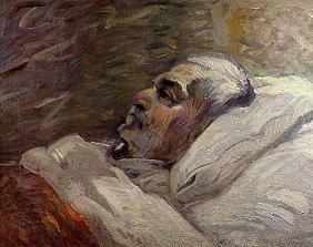 The father of the artist on the sickbed (II.)