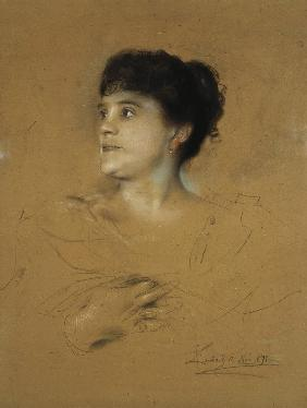 Portrait of the singer Marcella Sembrich (1858-1935)
