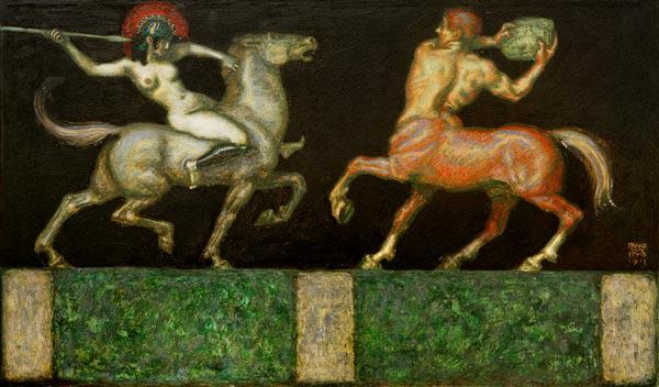 Von Stuck / Amazone and Centaur / 1912