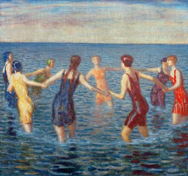 F.v.Stuck / Women Bathing / c.1920.