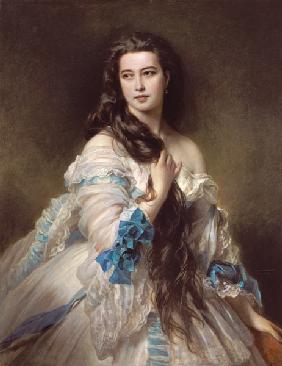 Portrait of Madame Rimsky-Korsakov (1833-78), born Varvara Dmitrievna Mergassov
