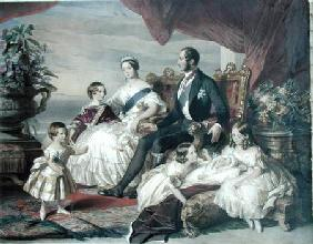 Queen Victoria (1819-1901) and Prince Albert (1819-61) with Five of the Their Children