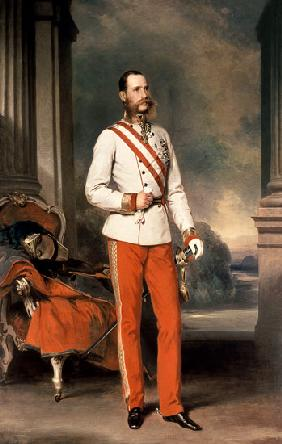 Franz Joseph I, Emperor of Austria (1830-1916) wearing the dress uniform of an Austrian Field Marsha