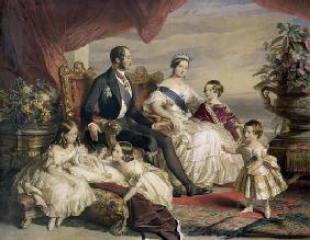 Queen Victoria (1819-1901) and Prince Albert (1819-61) with Five of the Their Children, 1846 (colour
