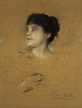 Portrait of Marcella Sembrich, 1891 (pastel on cardboard)
