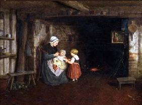 Expectation: Interior of a Cottage with a Mother and Children