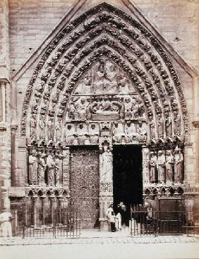 North Portal of the the West Facade of the Cathedral of Notre Dame, Paris