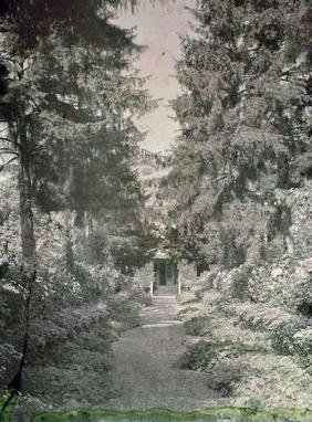Path in Monet's Garden at Giverny, early 1920s (photo)