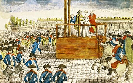 ŒUVRES CHRÉTIENNES DES FAMILLES ROYALES DE FRANCE - (Images et Musique)- année 1870  Execution_of_marie_antoinette
