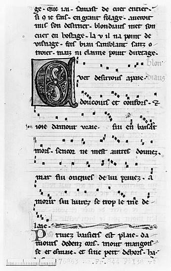 Ms Fr 844 fol 138v Song Blondel de Nesle - French School as