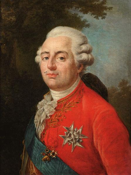 Portrait of Louis XVI (1754-93) King of - French School as art print ...