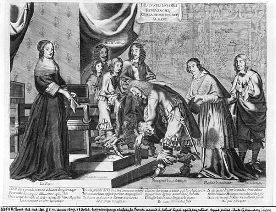 ŒUVRES CHRÉTIENNES DES FAMILLES ROYALES DE FRANCE - (Images et Musique)- année 1870  The_chiefs_of_the_fronde_admit
