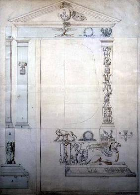 Design for a Cheval mirror