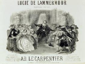 'Lucia de Lamermoor' the opera by Domenico G M Donizetti (1797-1848)